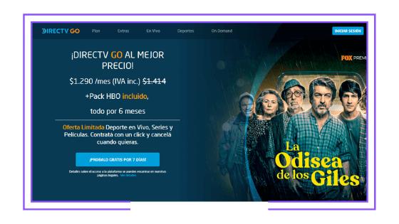 Argentina: DirecTV starts offering DirecTV Go to Satellite TV service non-subscribers