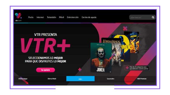 Chile: VTR lanzó VTR+, su nuevo servicio VOD